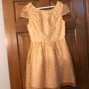 Francesca's Gold dress! worn once